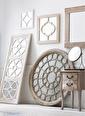 Warm Design Ahşap Duvar Aynası Renkli